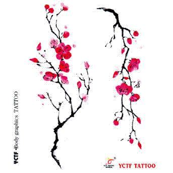 plum blossom tattoo temporary stickers arm wrist plum blossom