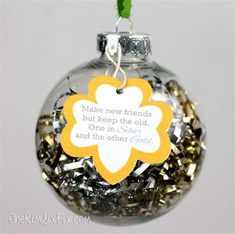 girl scout holiday ornaments craft hometalk scout themed quot make new friends quot ornaments