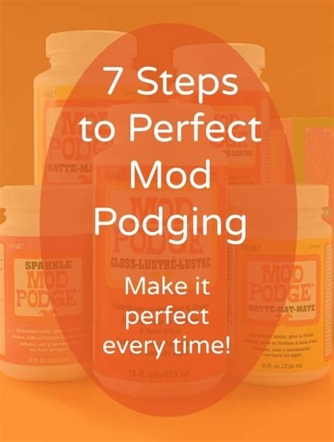 how to decoupage the 7 steps to mod podging