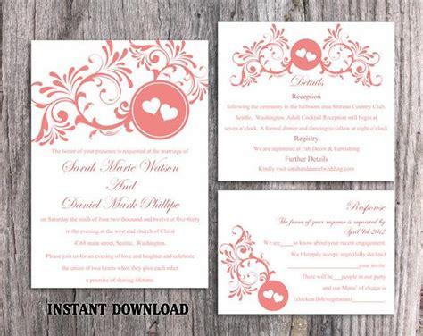 printable heart invitation wedding invitation template download printable wedding