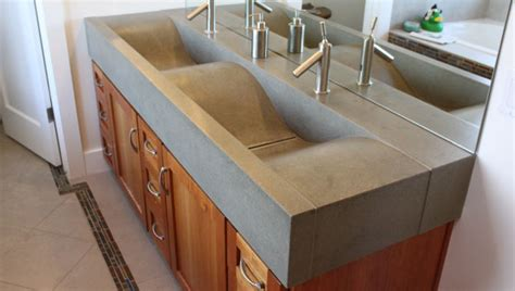Sinks shaped like waves or the ocean beach decor