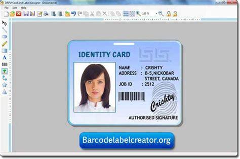 id card design tool id card label creator full windows 7 screenshot windows
