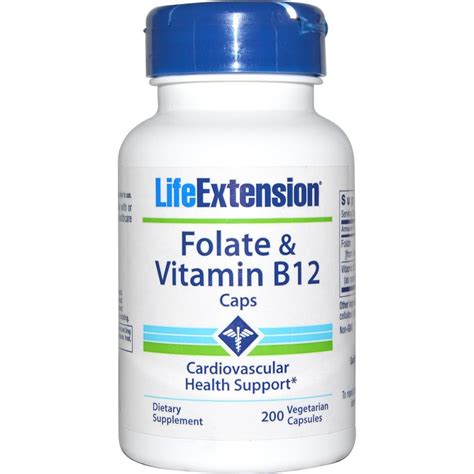 b12 supplement folate vitamin b12 caps extension dietary