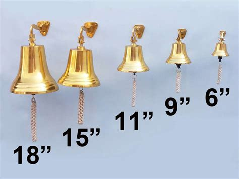 buy brass plated hanging ship s bell 6 inch wholesale