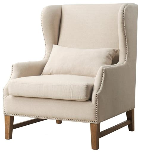 contemporary wing chair devon linen wing chair contemporary armchairs and