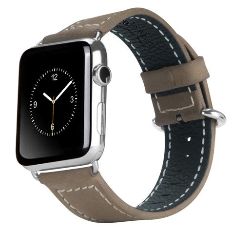 Hoco Bamboo Texture Leather Band For Apple Series 1 2 3 hoco genuine leather stitch band apple 42mm brown