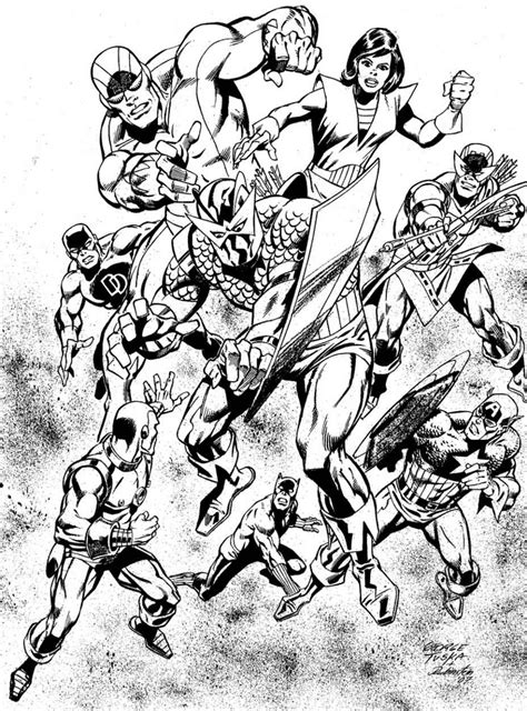 coloring page coloring adult avengers vintage