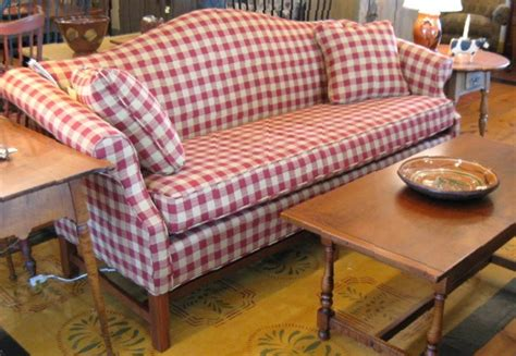 buffalo check sofa love this couch reproduction colonial upholstered