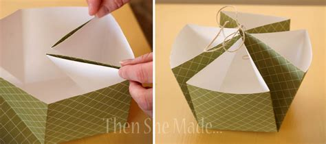 How To Make A Paper Basket - then she made a tiskit a tasket two green
