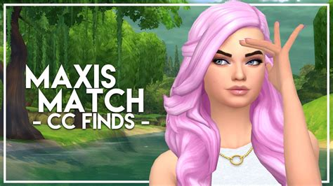 match hairstyles games the sims 4 custom content finds maxis match hairstyles