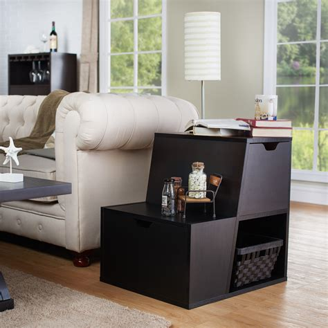 couch table with storage sofa table with storage baskets narrow sofa tables with