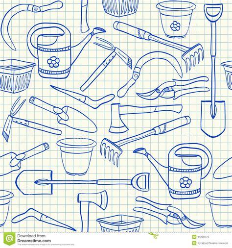 seamless pattern tool gardening tools seamless pattern royalty free stock photo