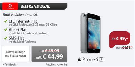 iphone 6s mit vertrag nur 49 vodafone flat nur 44 99 pro monat macerkopf