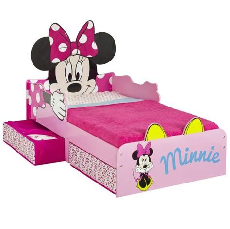 minnie mouse bed minnie mouse snuggle time toddler bed with storage