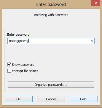 membuat password zip membuat password file zip rar dengan winrar graphic
