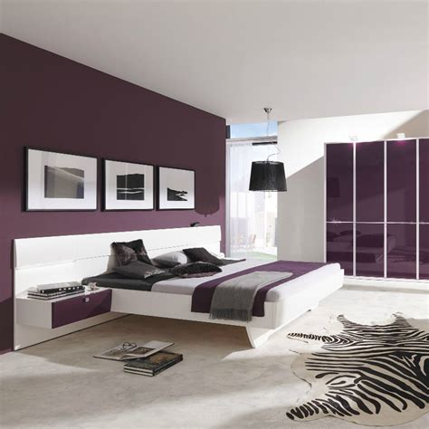 grey and eggplant bedroom starlight bed w two nightstands eggplant king size