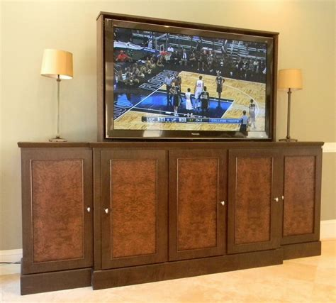 65 inch tv cabinet made 65 inch tv lift cabinet by jeffrey designs