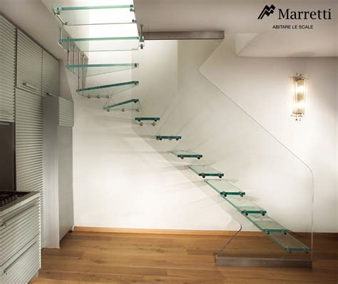 scale interne in vetro scala in vetro per interni con struttura e gradini in