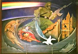 Denver Airport Wall Murals dia denver murals conspiracy theory wings900 discussion forums