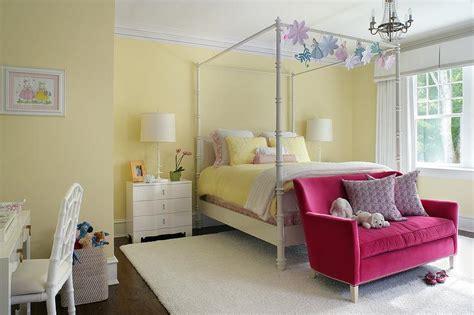 girls bedroom sofa white and yellow girl bedroom with hot pink velvet