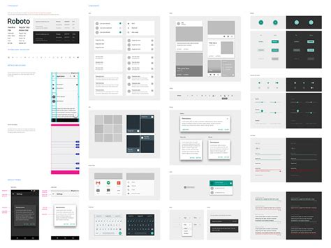 google design ui kit google material design ui floating action buttons set