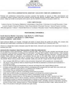 Sample Resume For Executive Administrative Assistant Sample Resume Admin Assistant