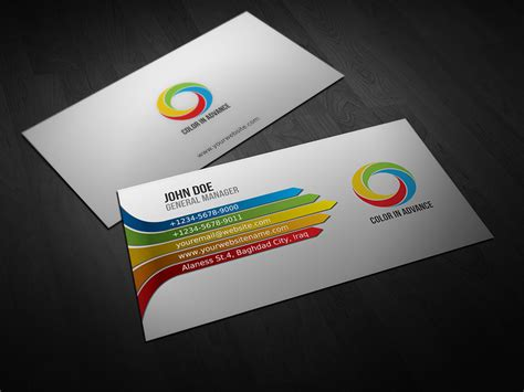 Colored Line Template Business Cards by Color Business Cards Color Business Card Psdbucket