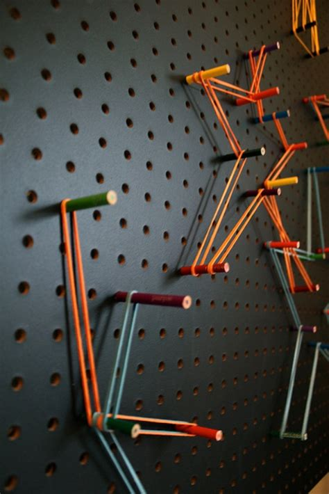 peg board designs easy diy pegboard your kids can create art on kidsomania