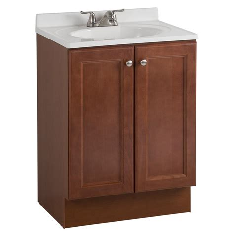 all in one bathroom vanity glacier bay all in one 24 in w bath vanity combo in amber