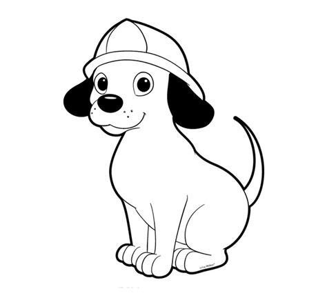 Fire Dog Coloring Sheet Loading