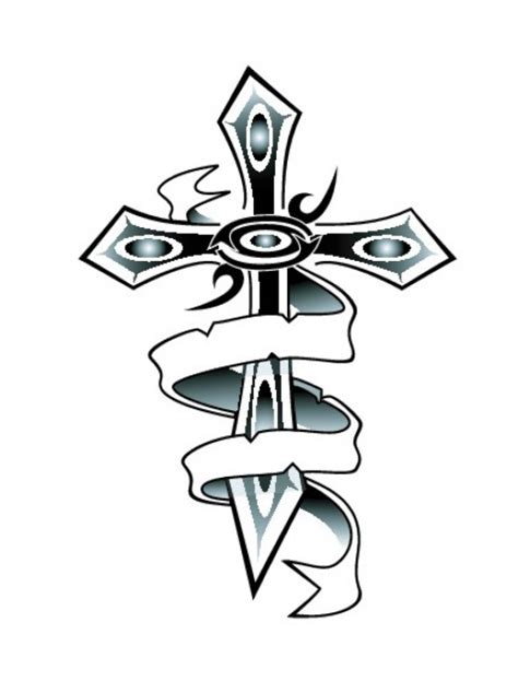 pictures of crosses with ribbons cliparts co