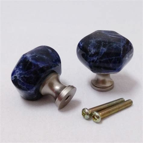 blue kitchen cabinet knobs natural stone pumpkin knob blue sodalite cabinet knobs