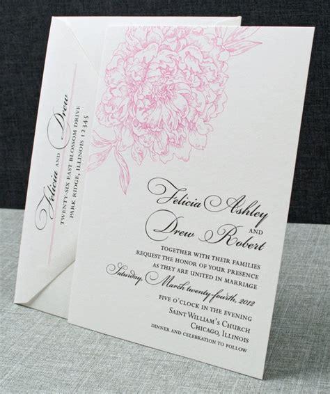 peony design invitation jakarta felicia wedding invitation pink peony pattern sle
