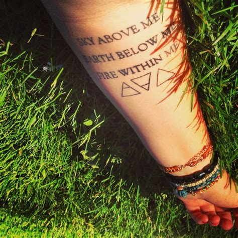 what does a triangle tattoo mean sky above me earth below me within me what do the