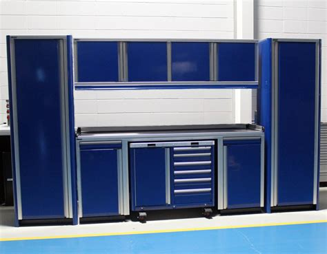 Aluminum Cabinet by Car Garage 12 Foot Wide Aluminum Cabinets