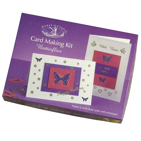 card kits uk card kit butterflies house of crafts