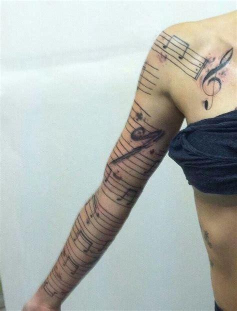 sheet music tattoo awesome sheet