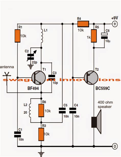 how to make a schematic diagram make this simple fm radio circuit using a single transistor