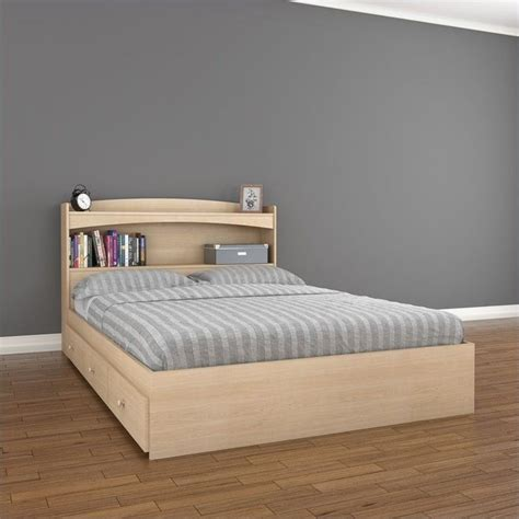 What Stores Sell Bed Frames Storage Bed In Maple 5654