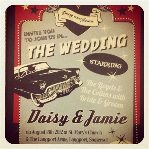 50 S Theme Wedding Invitations by The World S Catalog Of Ideas