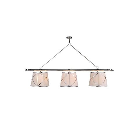lighting fairmount 6 light polished nickel pendant