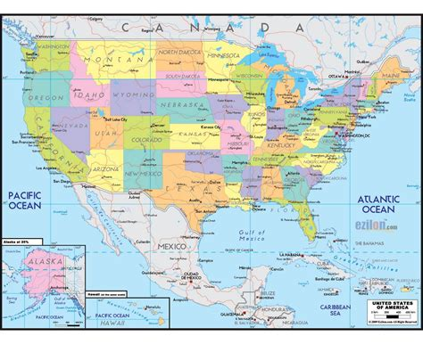 united states map with cities and roads maps of usa detailed map of united states of america in