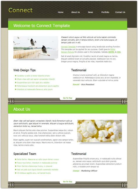 dreamweaver layout templates 45 best free dreamweaver templates