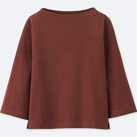 Mock Neck Sleeve T Shirt mock neck wide 3 4 sleeve t shirt uniqlo us