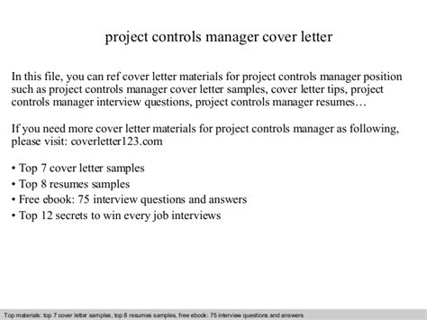 Fandb Cost Controller Cover Letter by Project Controls Manager Cover Letter