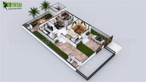 house design ideas floor plans 3d 3d floor plan of 3 story house with cut section view by