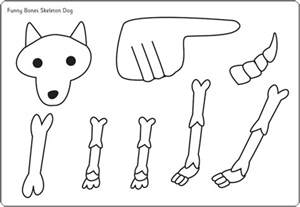funny bones moving dog cut out poster free early years
