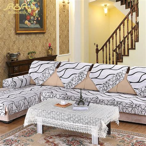 fabric to cover sofa aliexpress buy romorus europe striped quilted sofa