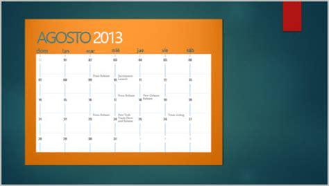 insertar un calendario en una diapositiva powerpoint