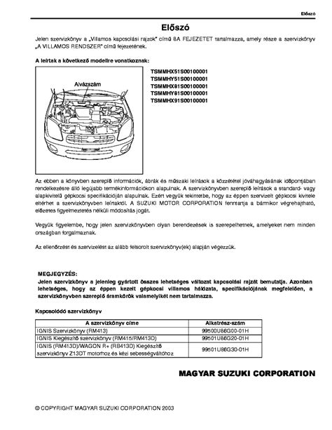 Suzuki Workshop Manual Pdf Suzuki Ignis Kapcsolasi Rajzok Service Manual